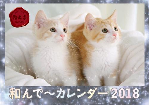 和んで~カレンダー2018表紙